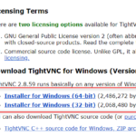 WindowsにTightVNC Viewerをインストールする